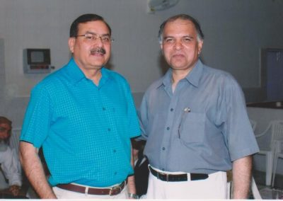 Sharing a moment with Gul Farid