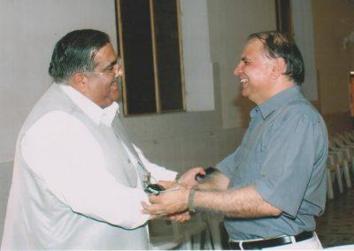 With Abbasi Snr